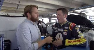 Alex Bowman wrecks at Charlotte road course test