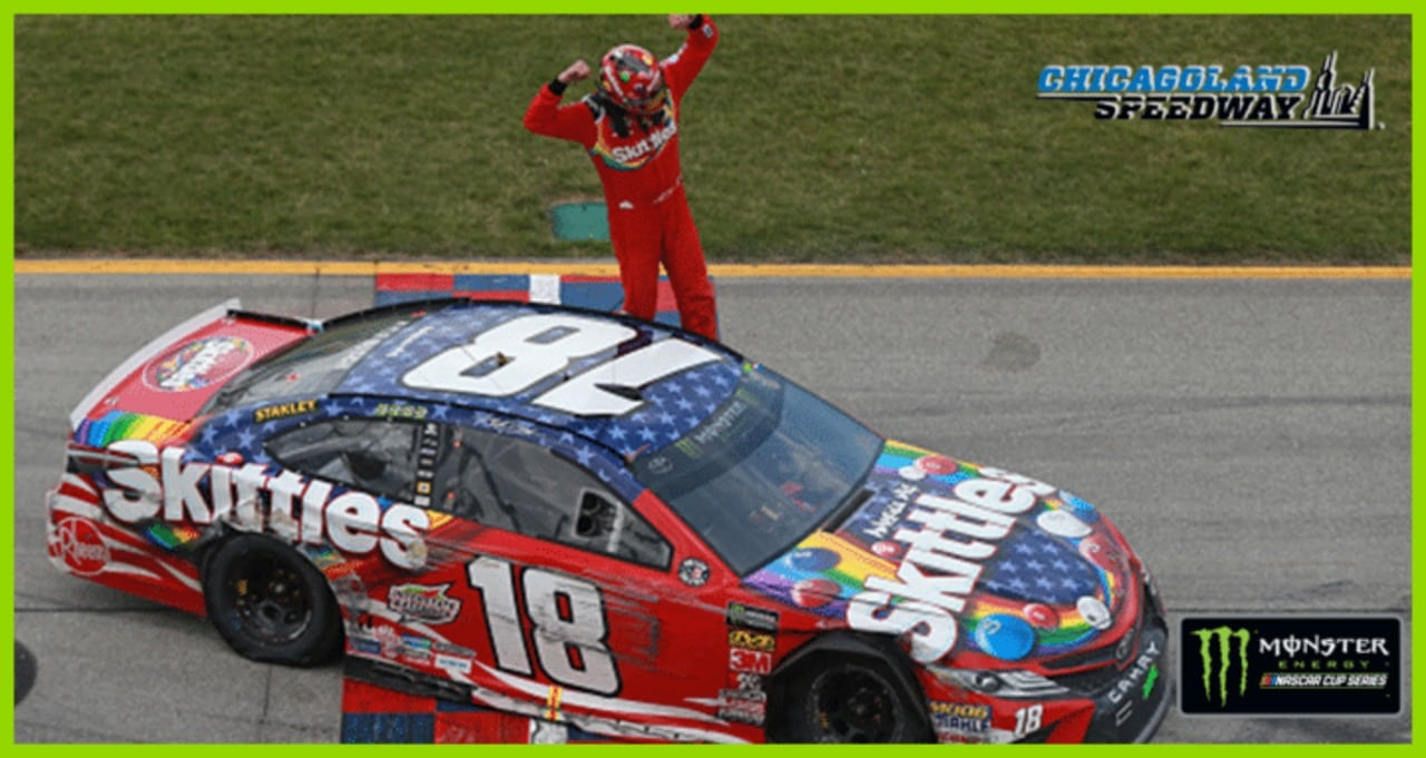 Recap: Kyle Busch, Kyle Larson go toe-to-toe in Chicago