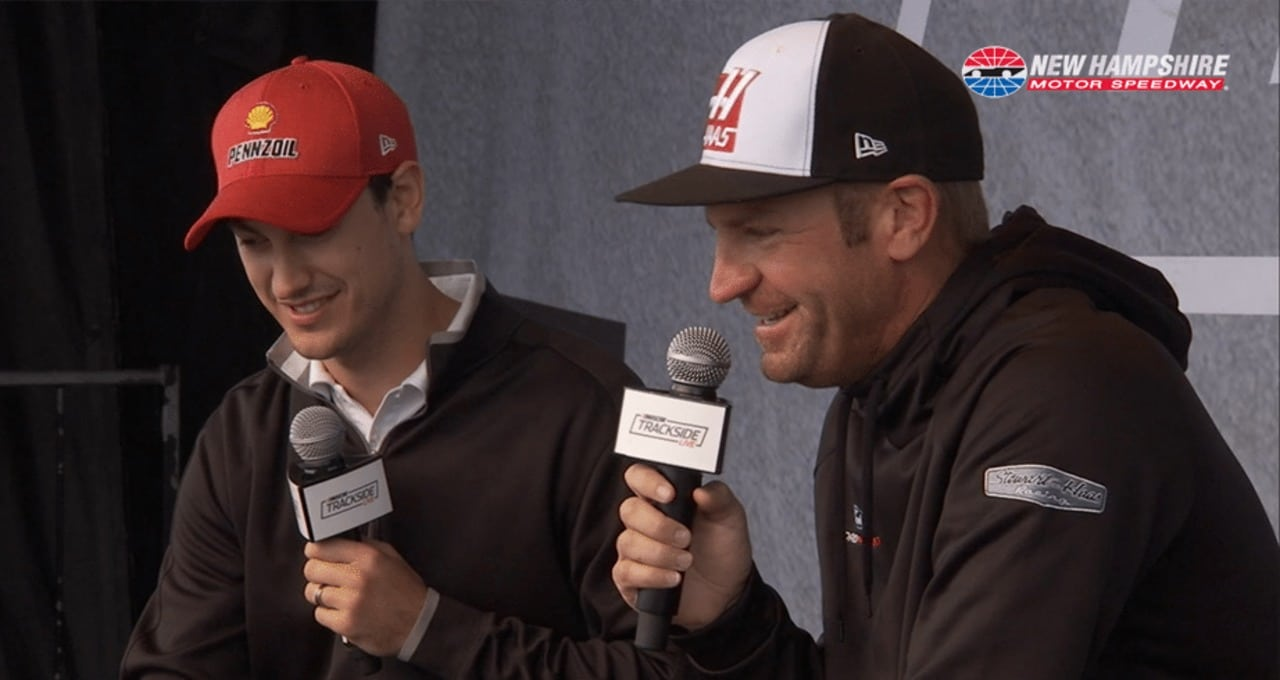 Bowyer jests with Logano: 'We're a mess'