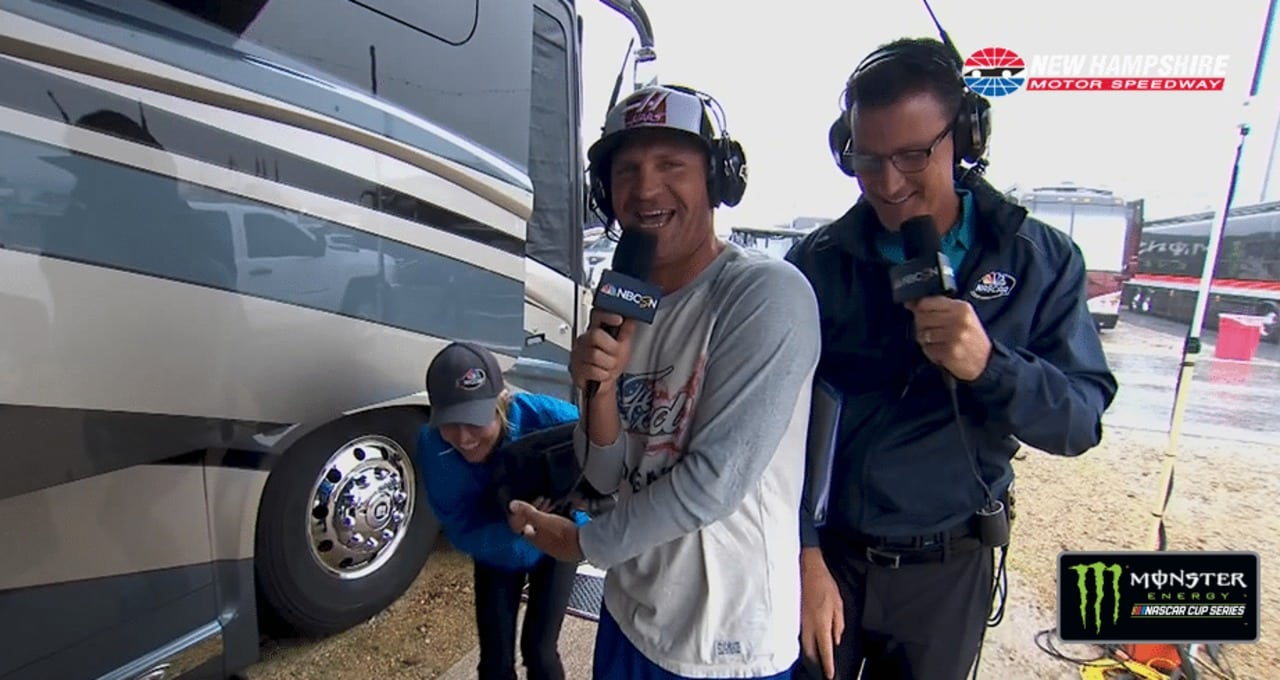 Bowyer has fun with NASCAR on NBC booth
