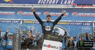 Race recap: Harvick wins in 'Magic Mile' thriller