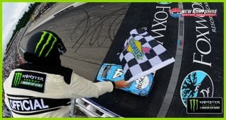 Late charge leads Harvick to sixth win of the season