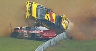 From the Vault: Steve Park, Dale Earnhardt Jr. plow the field at Pocono