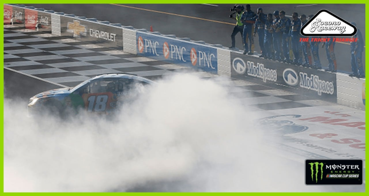 Kyle Busch earns Pocono burnout for second time of weekend