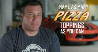 Drivers take the pizza topping challenge