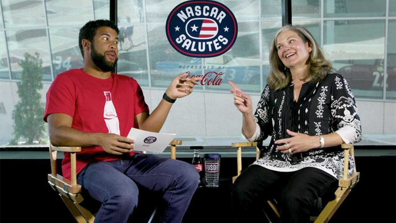 NASCAR Salutes: Bubba Wallace helps honor military spouse