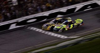 Relive the thrilling 2007 Daytona finish between Jamie McMurray and Kyle Busch