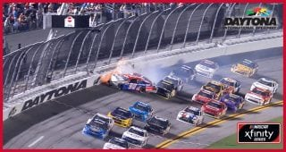 Second multi-car wreck sends Xfinity race to overtime