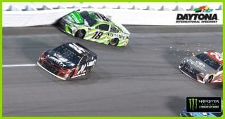 Stenhouse Jr. forces Kyle Busch into wall, takes out Byron