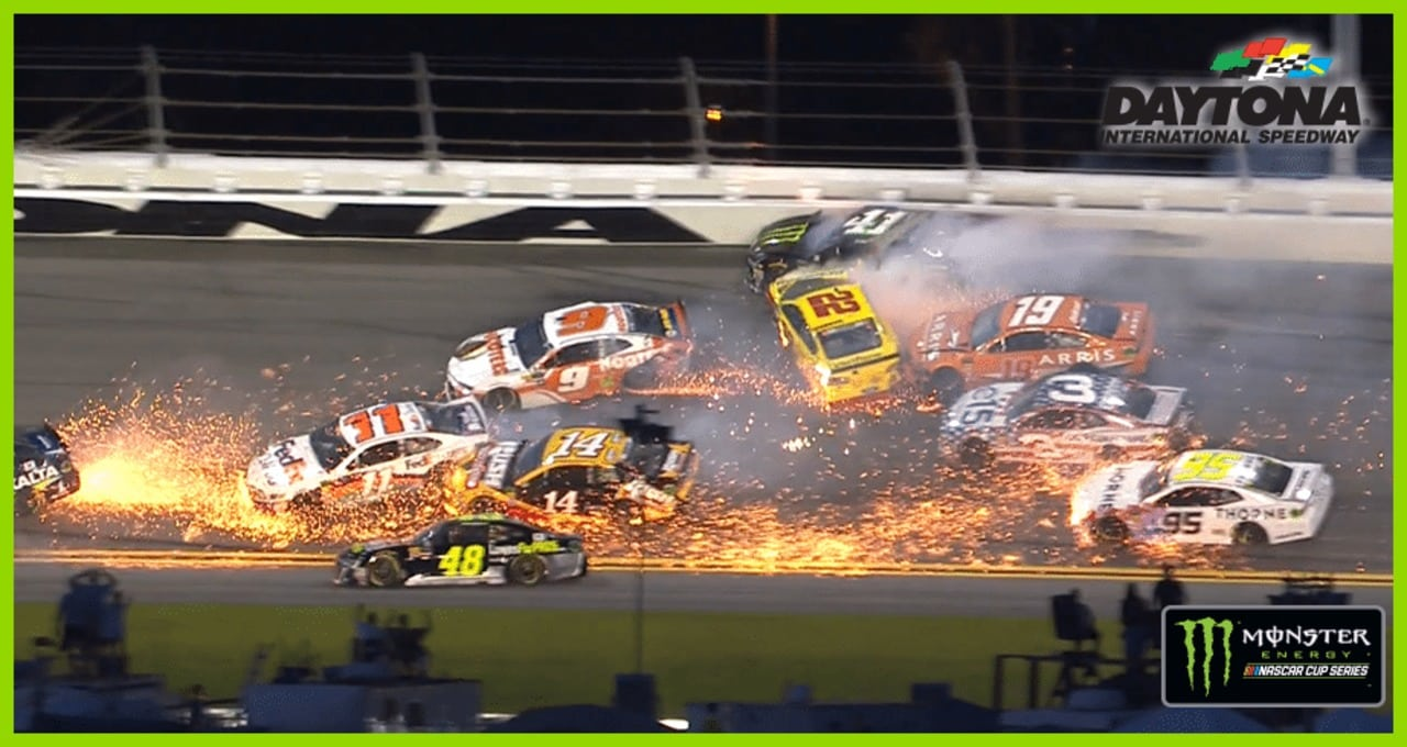 Mayhem at Daytona! Multi-car wreck unfolds