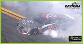 First win, first burnout for Erik Jones