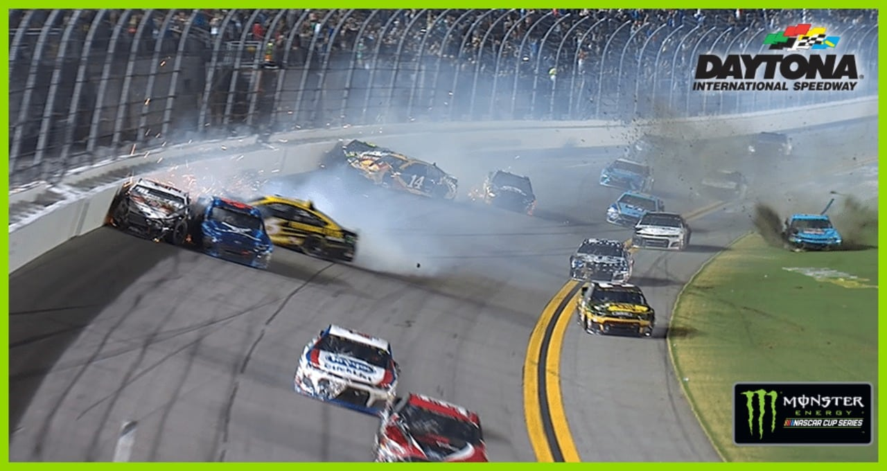 Overtime wreck takes out Harvick, Johnson and others