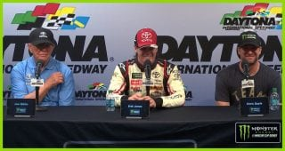 Winning was step one for Erik Jones, late father
