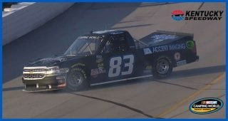 Jammed-up start on green flag leads to Matthews spin