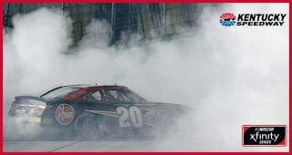 Bell celebrates Kentucky win with burnout