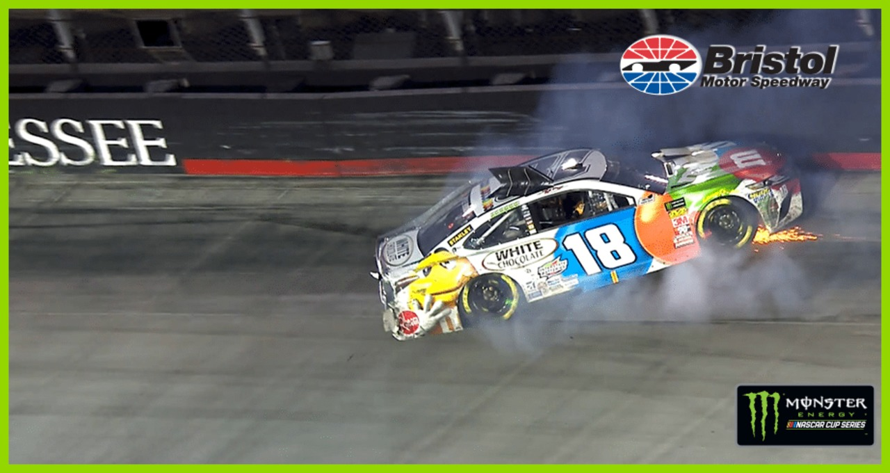 Cut tire takes Kyle Busch out of the mix at Bristol
