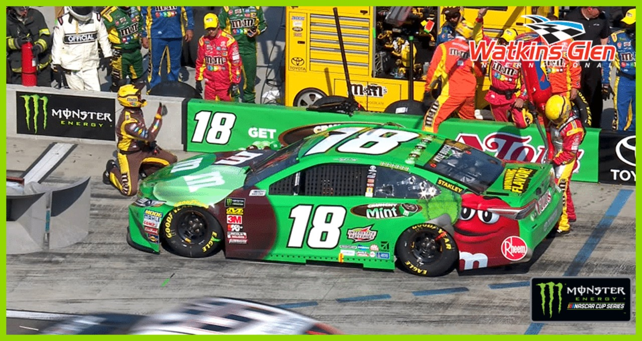 Fuel issue on Kyle Busch's pit stop at Watkins Glen