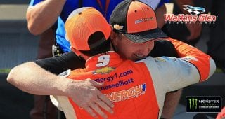 Chase and Bill Elliott share special moment in Victory Lane