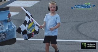 Keelan Harvick takes checkered flag for dad at Michigan