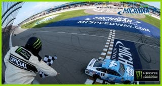 One to Go: Kevin Harvick holds on for win at Michigan