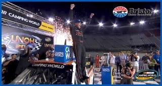 Sauter 'pumped up' in Victory Lane at Bristol