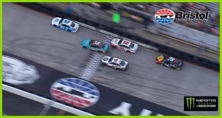 Blaney narrowly holds off Harvick for Stage 1 win