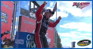 Peters in Victory Lane: 'Hate to cause that' after last-lap incident