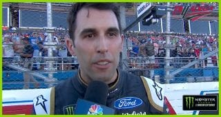 Almirola's first words after climbing out: 'That is so awesome! At Talladega!'