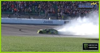 Elliott burns it down after his third victory of the year