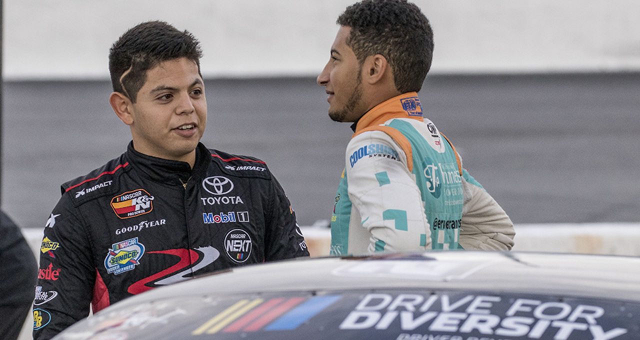 Young drivers test in Drive for Diversity Combine at New Smyrna Speedway