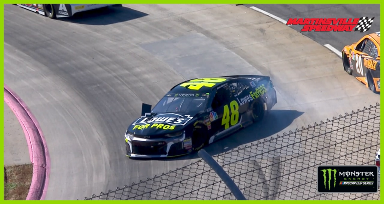 Jimmie Johnson spins early at Martinsville