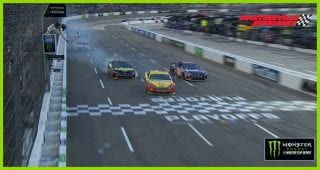 One to Go: Logano moves Truex for the win on last lap