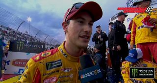Logano reacts to Truex's post-race comments