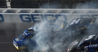 Big wrecks take out contenders as Keselowski prevails in 2017 Talladega playoff race