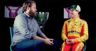 1-on-1 with the champ, Joey Logano