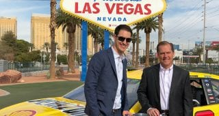 Joey Logano takes in sights on Las Vegas Landmark Tour