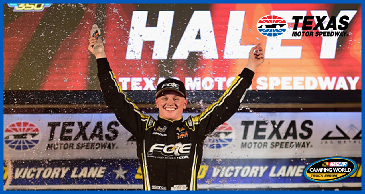 Justin Haley celebrates 'luck' win for Championship 4 berth