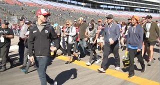 Ryan Reed hosts Fan Lap Powered by Lilly Diabetes at Texas Motor Speedway
