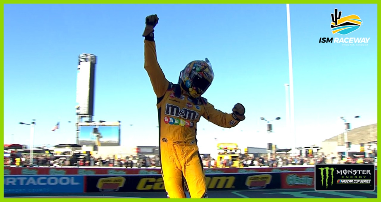 Kyle Busch burns it down after winning at Phoenix