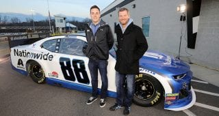 Bowman, Dale Jr. unveil new-look Nationwide No. 88