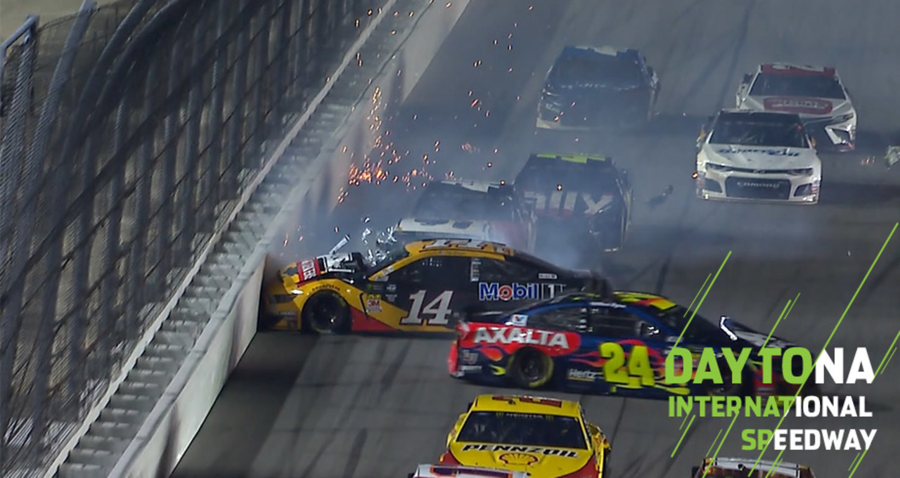 Bowyer, Byron involved in big wreck in first overtime ...