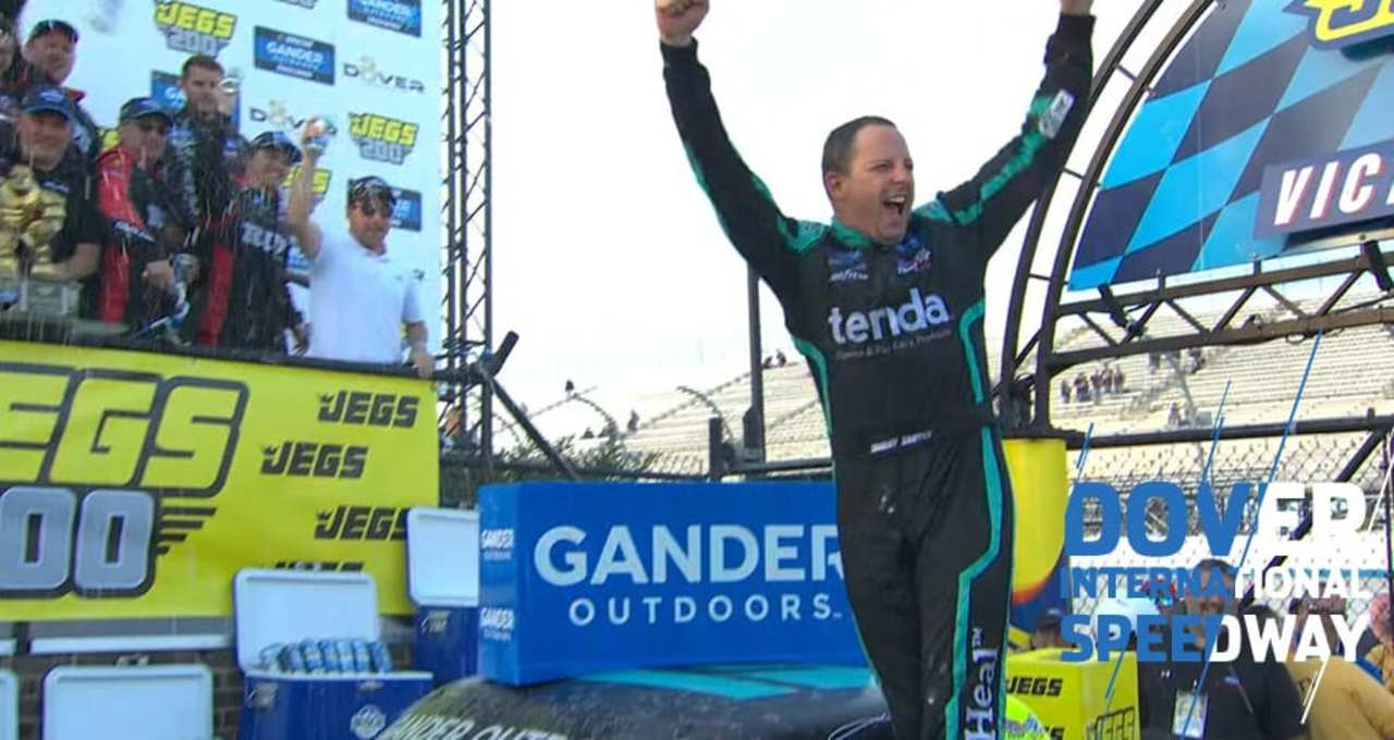 Sauter in Dover Victory Lane: 'One of the best wins of my