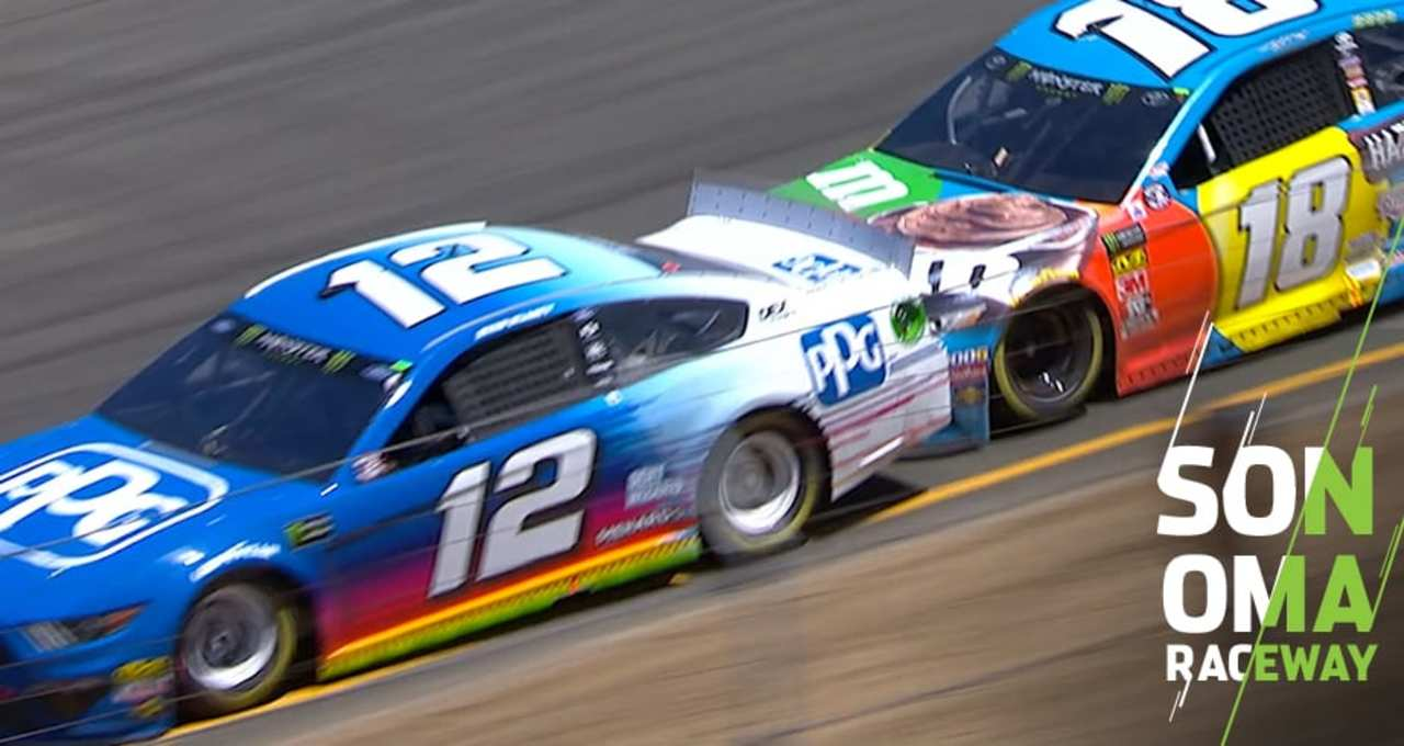 Enjoyable Contact Between Busch And Blaney In Final Stage Nascar En Interior Design Ideas Philsoteloinfo