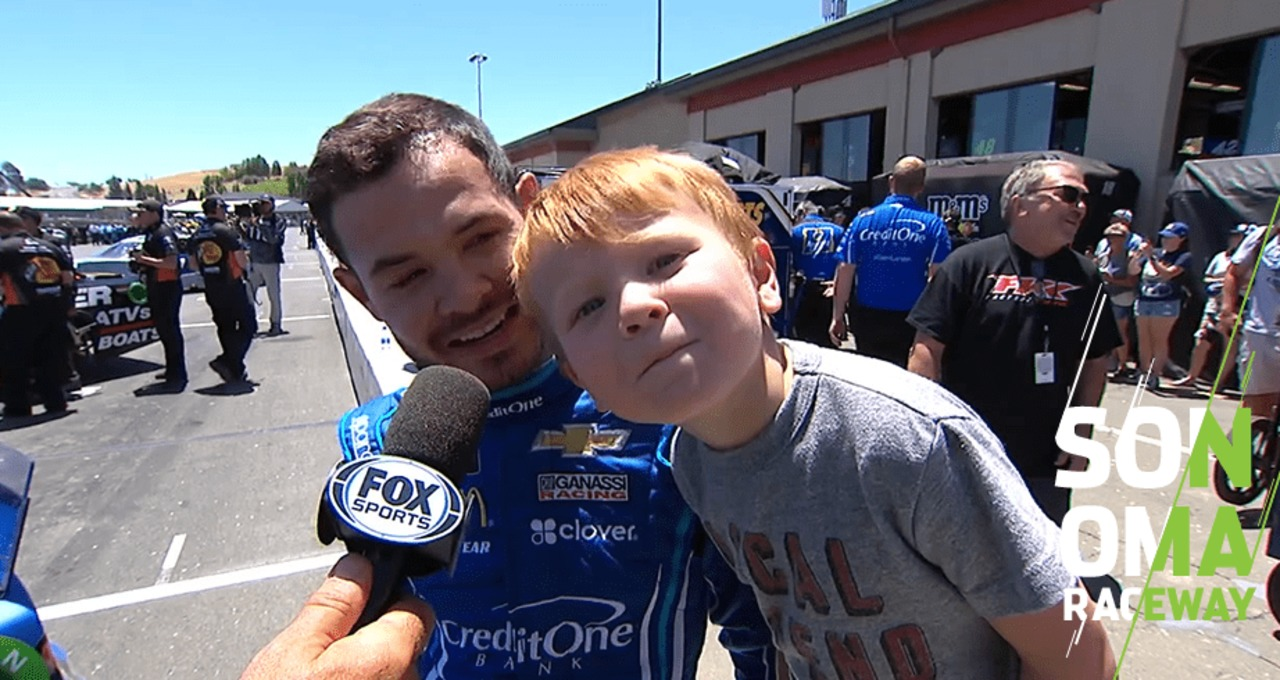Larson: 'Cool to get a third pole in a row' at Sonoma